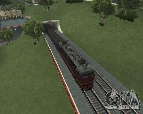 Locomotora de pasajeros CHS4t-521 para GTA San Andreas interior