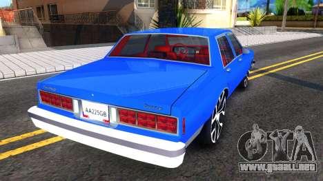 Chevrolet Caprice 1987 Tuning para la visión correcta GTA San Andreas