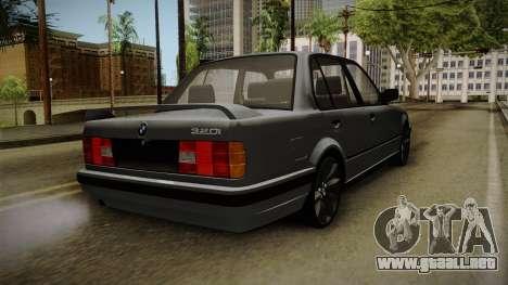 BMW M3 E30 Edit v1.0 para GTA San Andreas vista posterior izquierda