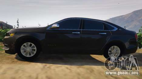 GTA 5 Chevrolet Impala 2015 vista lateral izquierda