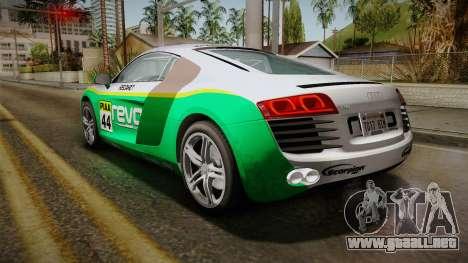 Audi R8 Coupe 4.2 FSI quattro EU-Spec 2008 Dirt para las ruedas de GTA San Andreas