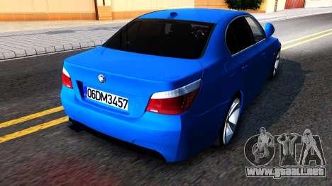 BMW E60 520D M Technique para GTA San Andreas vista posterior izquierda