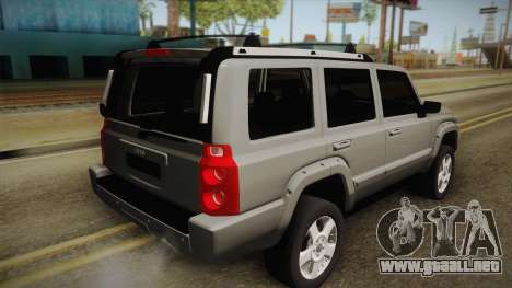 Jeep Commander 2010 para GTA San Andreas left
