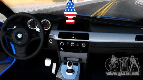 BMW E60 520D M Technique para visión interna GTA San Andreas