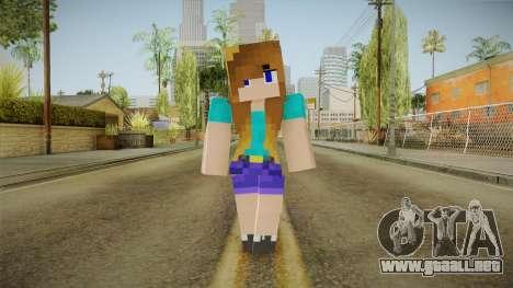 Minecraft - Stephanie para GTA San Andreas segunda pantalla