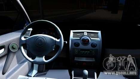 Renault Megane Sedan para visión interna GTA San Andreas