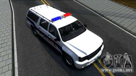 Declasse Granger Metropolitan Police 2012 para GTA San Andreas vista hacia atrás