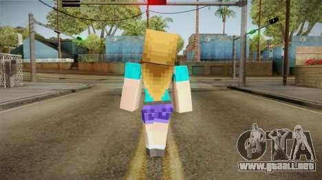 Minecraft - Stephanie para GTA San Andreas tercera pantalla