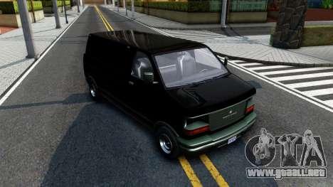 GTA V Declasse Burrito para GTA San Andreas vista hacia atrás