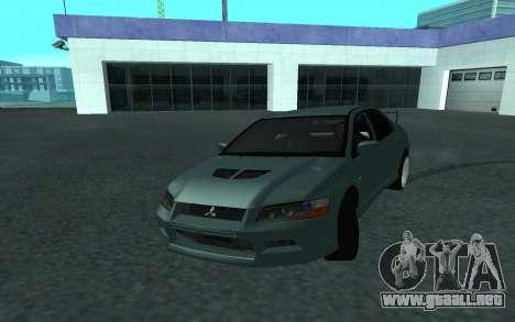 Mitsubishi Lancer Evolution VII para vista lateral GTA San Andreas