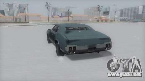 Sabre Winter IVF para GTA San Andreas vista posterior izquierda