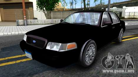 Ford Crown Victoria OHSP Unmarked 2010 para GTA San Andreas