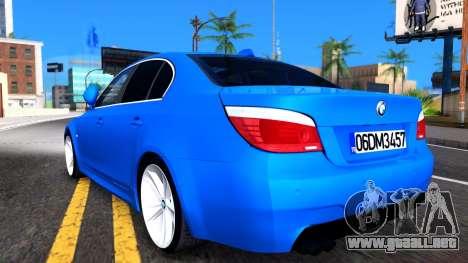 BMW E60 520D M Technique para la visión correcta GTA San Andreas