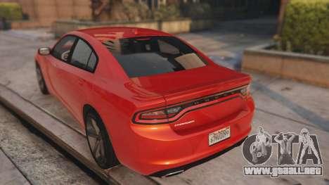 GTA 5 Dodge Charger Hellcat vista lateral izquierda trasera