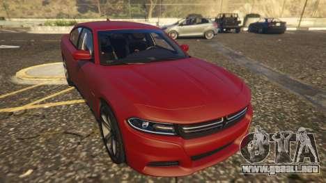 GTA 5 Dodge Charger Hellcat vista trasera