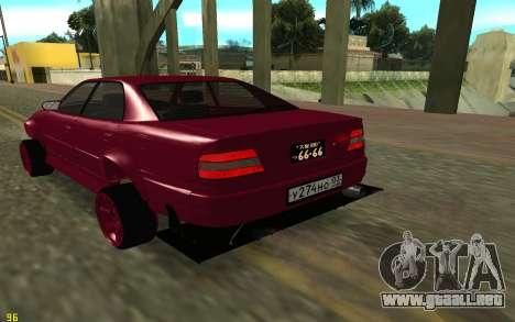 Toyota Chaser Sport para GTA San Andreas vista posterior izquierda