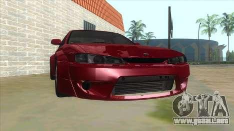 Nissan Silvia S14 Tuned para GTA San Andreas vista hacia atrás