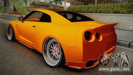 Nissan GT-R R35 2015 para GTA San Andreas left