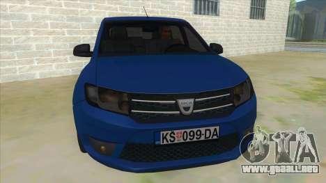 2016 Dacia Sandero para GTA San Andreas vista hacia atrás