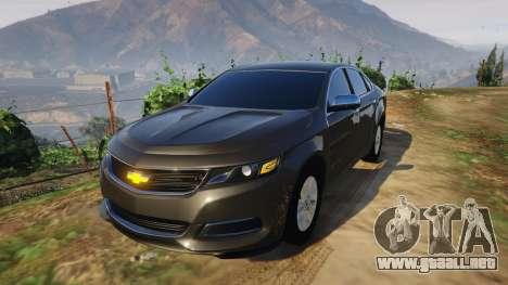 Chevrolet Impala 2015 para GTA 5