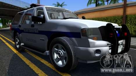 Ford Expedition SAST CVE 2008 para GTA San Andreas vista hacia atrás