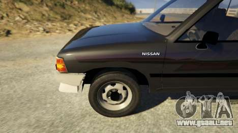 GTA 5 Nissan Datsun 1985 vista lateral trasera derecha