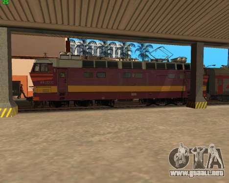 Locomotora de pasajeros CHS4t-521 para la vista superior GTA San Andreas