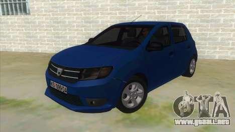 2016 Dacia Sandero para GTA San Andreas