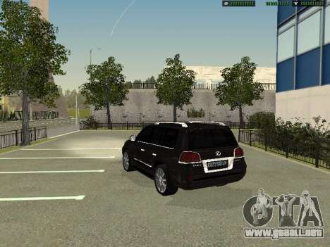 Lexus LX 570 2011 para GTA San Andreas left