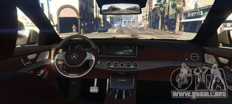GTA 5 Mercedes-Benz S65 W222 vista lateral izquierda trasera