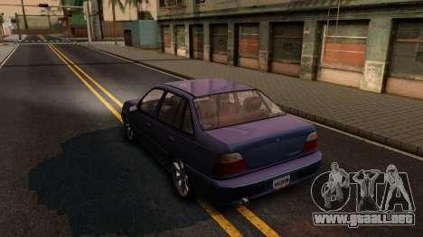 Daewoo Cielo 2001 para GTA San Andreas vista posterior izquierda