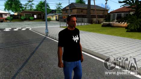 T-Shirt Watch Dogs 2 para GTA San Andreas segunda pantalla