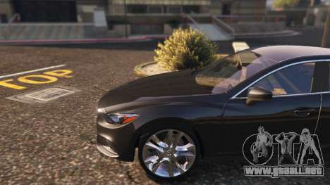 GTA 5 Mazda 6 2016 vista lateral trasera derecha