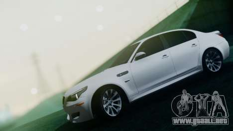 BMW M5 E60 para la vista superior GTA San Andreas
