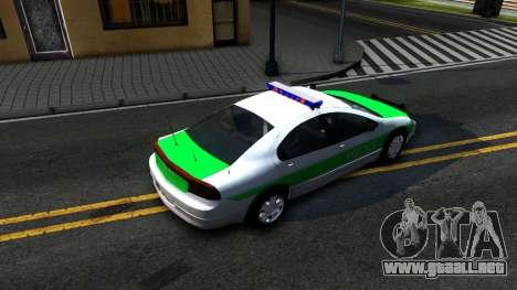 Dodge Intrepid German Police 2003 para GTA San Andreas vista hacia atrás