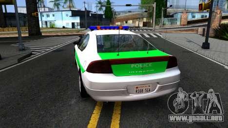 Dodge Intrepid German Police 2003 para GTA San Andreas vista posterior izquierda
