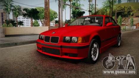 BMW 328i E36 Coupe para la visión correcta GTA San Andreas