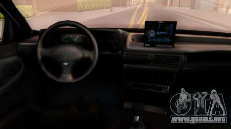 Daewoo Cielo 2001 para visión interna GTA San Andreas
