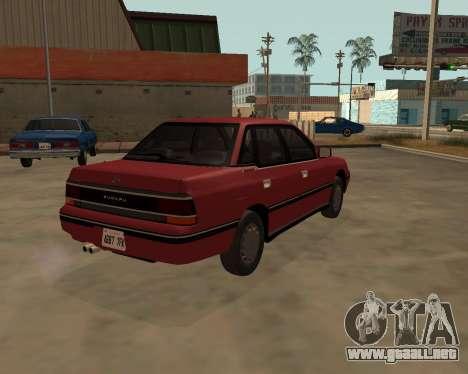 Subaru Legacy 1992 para GTA San Andreas vista posterior izquierda