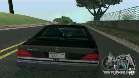 Mercedes-Benz 500SE para GTA San Andreas left