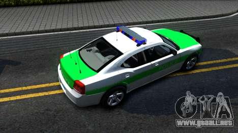 Dodge Charger German Police 2008 para GTA San Andreas vista hacia atrás