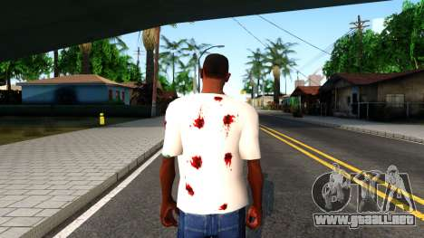 White I am Fine T-Shirt para GTA San Andreas tercera pantalla