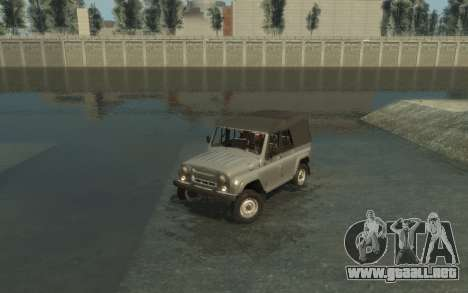 УАЗ 469 (Paul Black prod.) para GTA 4 vista lateral