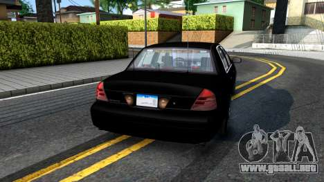 Ford Crown Victoria OHSP Unmarked 2010 para GTA San Andreas left
