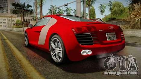 Audi R8 Coupe 4.2 FSI quattro EU-Spec 2008 YCH2 para GTA San Andreas left