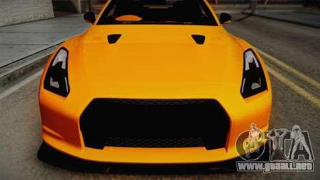 Nissan GT-R R35 2015 para la visión correcta GTA San Andreas