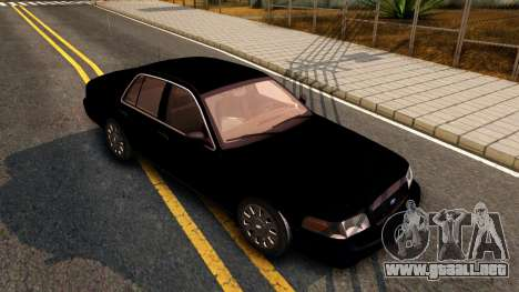 Ford Crown Victoria Detective 2008 para GTA San Andreas left