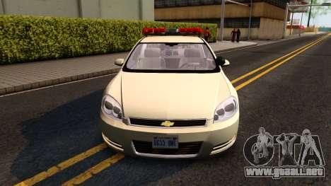 2007 Chevy Impala Bayside Police para GTA San Andreas left