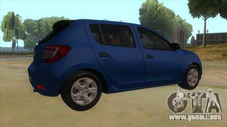 2016 Dacia Sandero para la visión correcta GTA San Andreas