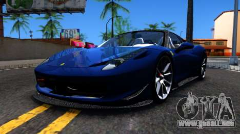 Ferrari 458 Italia Tune para GTA San Andreas left